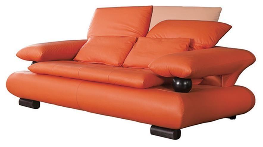 E410 Sofa In 2020 Orange Leather Sofas Leather Loveseat Love Seat