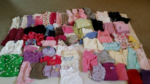 c62fd2cce Lot Of 77 Infant Toddler Girls Size 12-18 Month Fall Winter Clothes ...