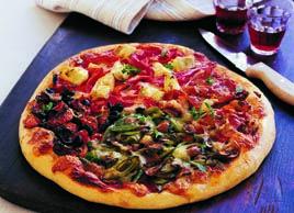 Pizza des quatre saisons