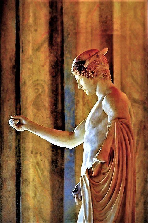 A brilliant statue of one of the youngest of the Olympians ...