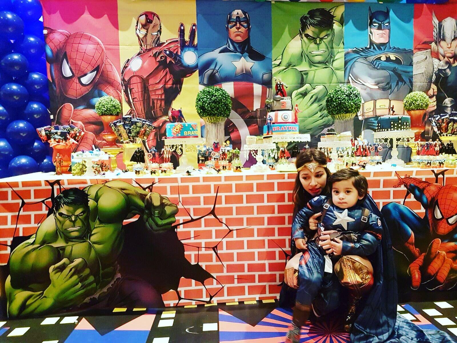 2 x personnalisé Hulk Avengers Anniversaire Bannière Nursery Kids Enfants Party Déco
