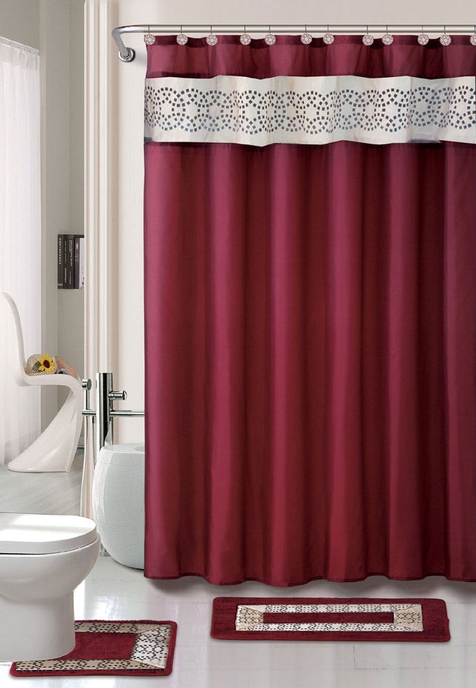 Bathroom Shower Curtain And Rug Sets Dengan Gambar