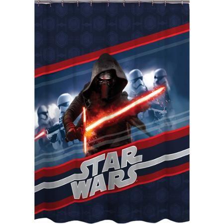 Star Wars Episode VII Force Awakens Shower Curtain Curtains Walmart Decor