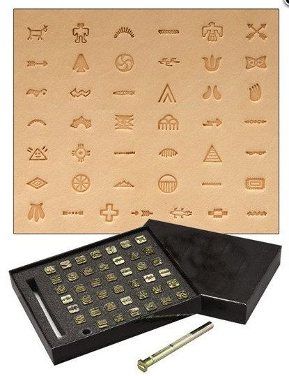 Native American Symbol Leather Stamp Set