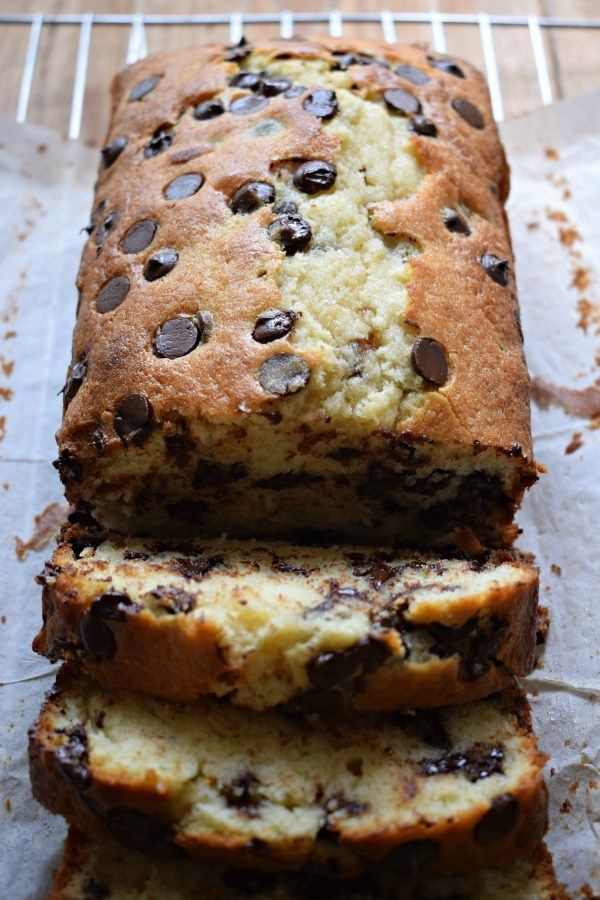 chocolate chip Loaf Cake - Julia's Cuisine