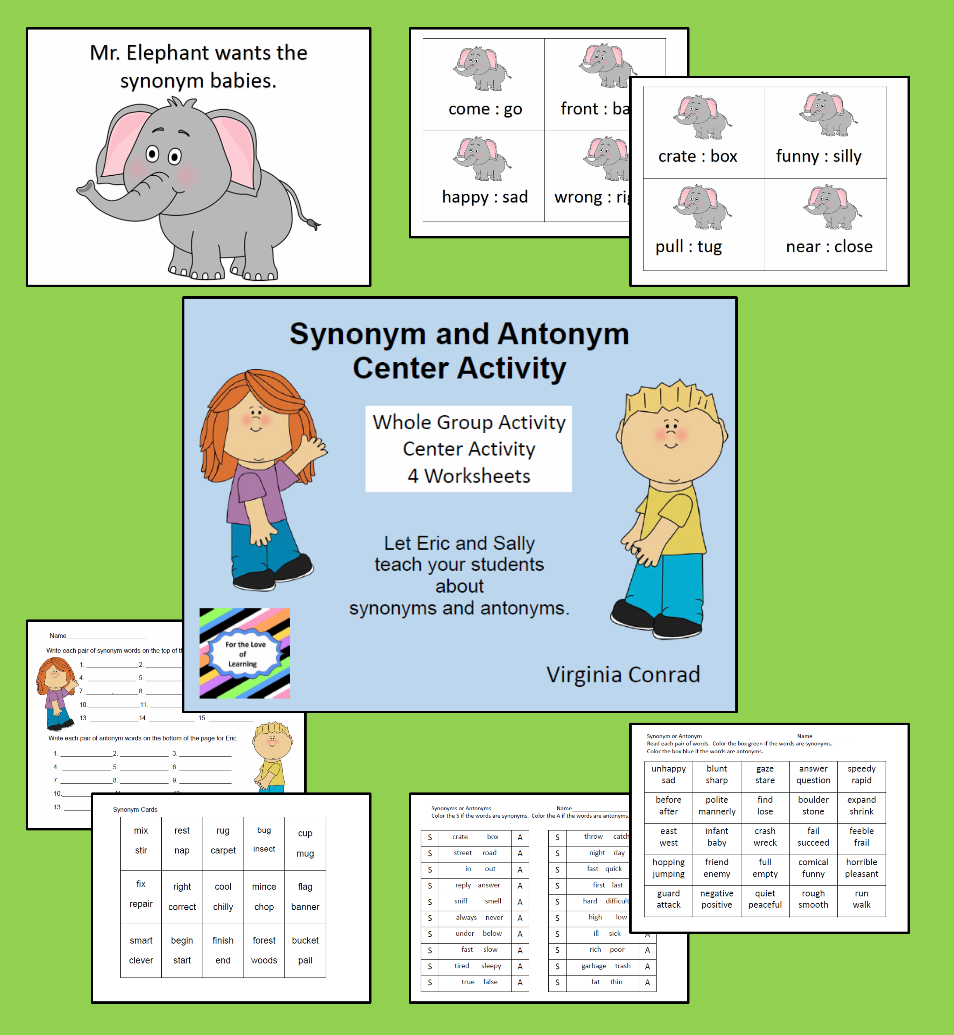 Synonym And Antonym Activities And Worksheets