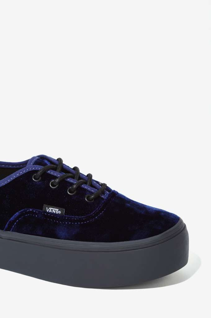 51d4d769d63 Vans Authentic Platform Sneaker - Blue Velvet - Shoes