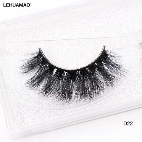 f0bb2bceb24 LEHUAMAO False Eyelashes 3D Mink Lashes Natural Volume Handmade Mink False  Eyelashes Thick Full Strip Lashes