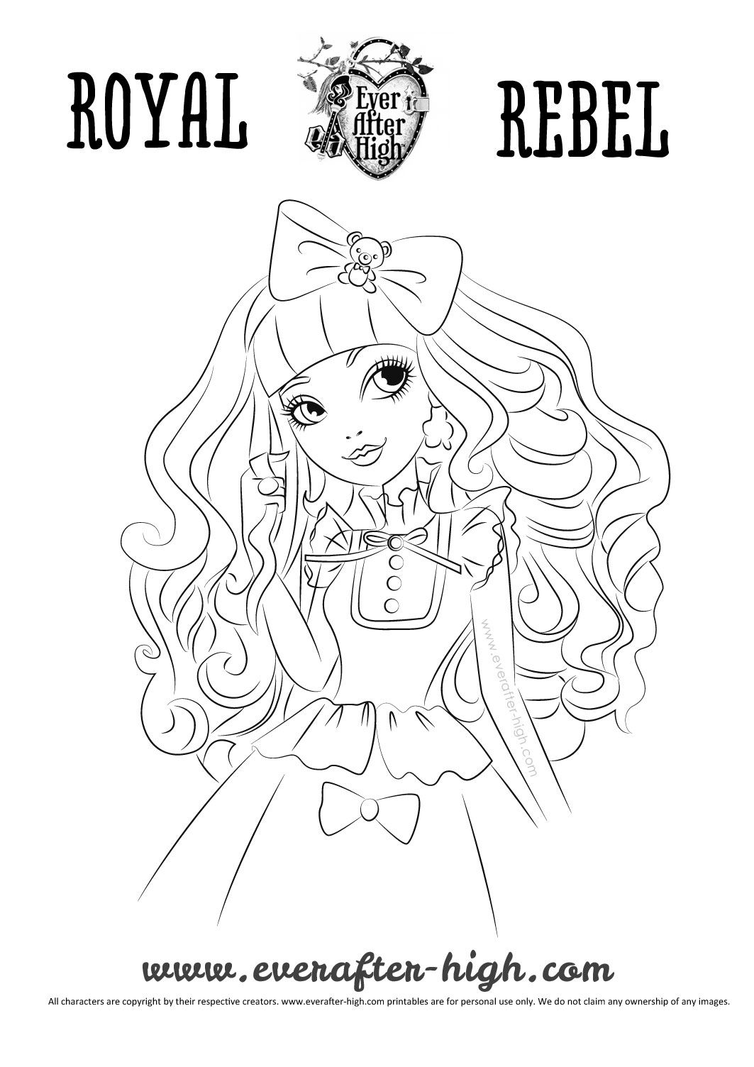 Blondie Lockes coloring page | Inkleur | Pinterest