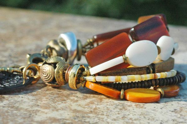 Organic | Charm | Bracelet | Shell | Horn | Mother of Pearl | XO Gallery | XO Gallery