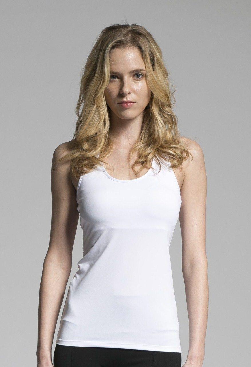 e23dc81f7e997d ATHLETE Women s Mesh Patch Tank Top w  removable pads (White ...