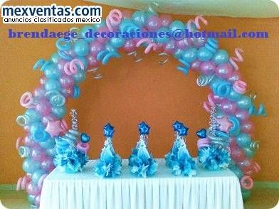 Decoraciones con globos para todo evento o fiestas party for Decoracion simple con globos