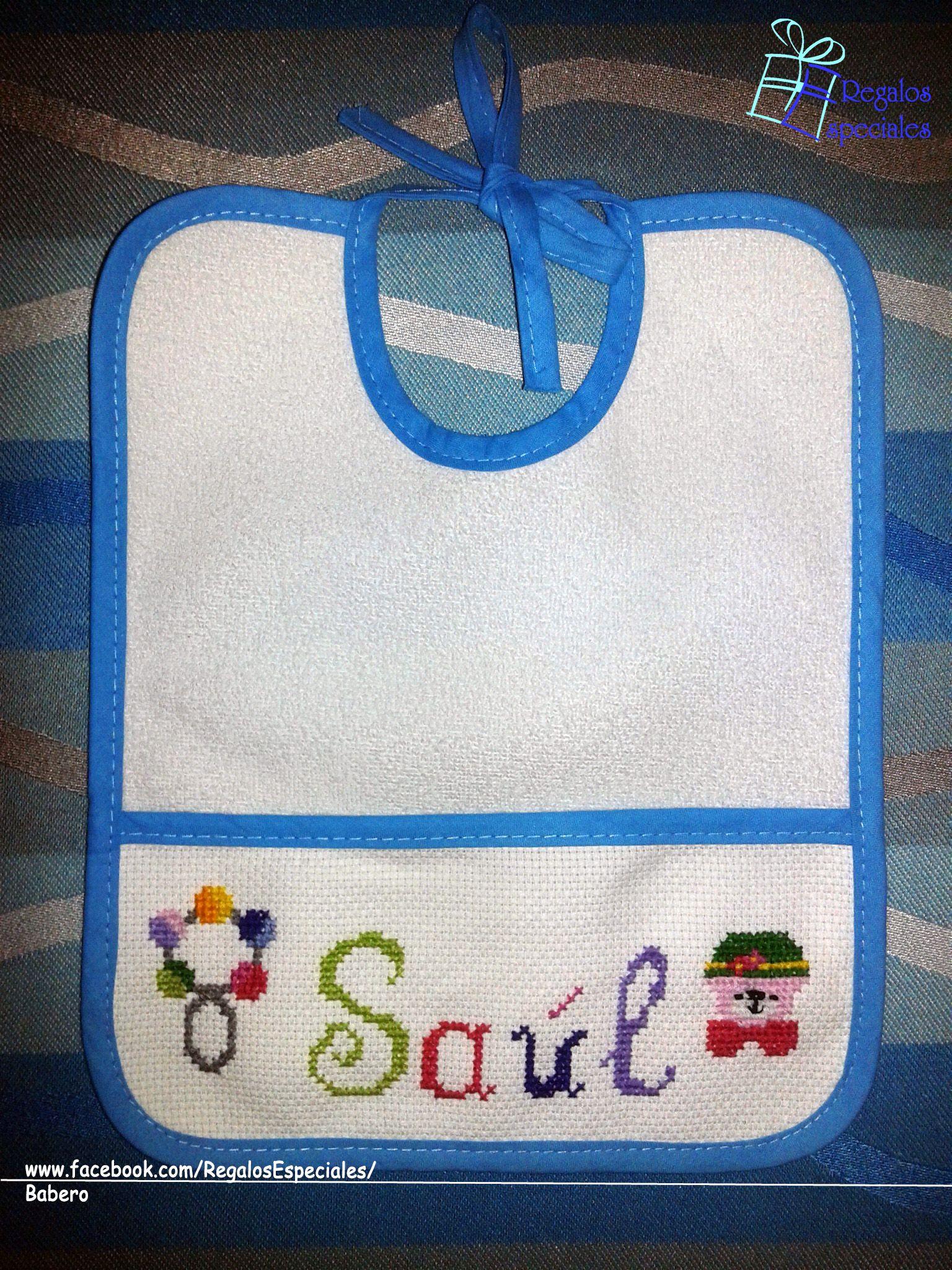 Babero personalizado para Saúl. www.facebook.com/RegalosEspeciales ...