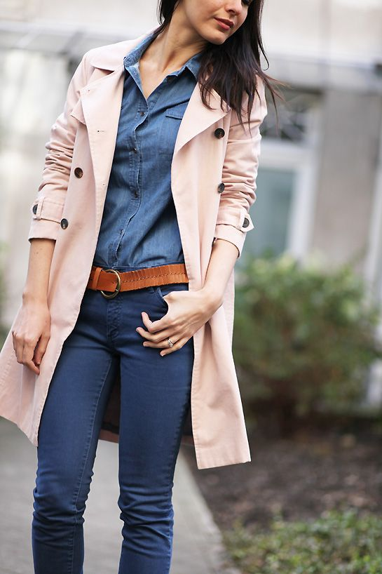 jeans + trench: classic