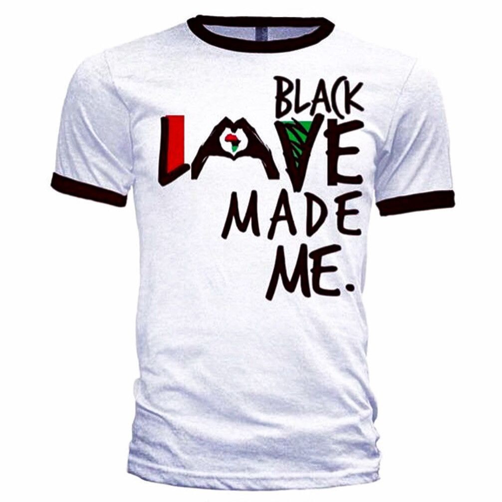 3c4599df255577 BLACK LOVE MADE ME UNISEX RINGER SHIRT – HAUTE GREEKS COUTURE LLC ...