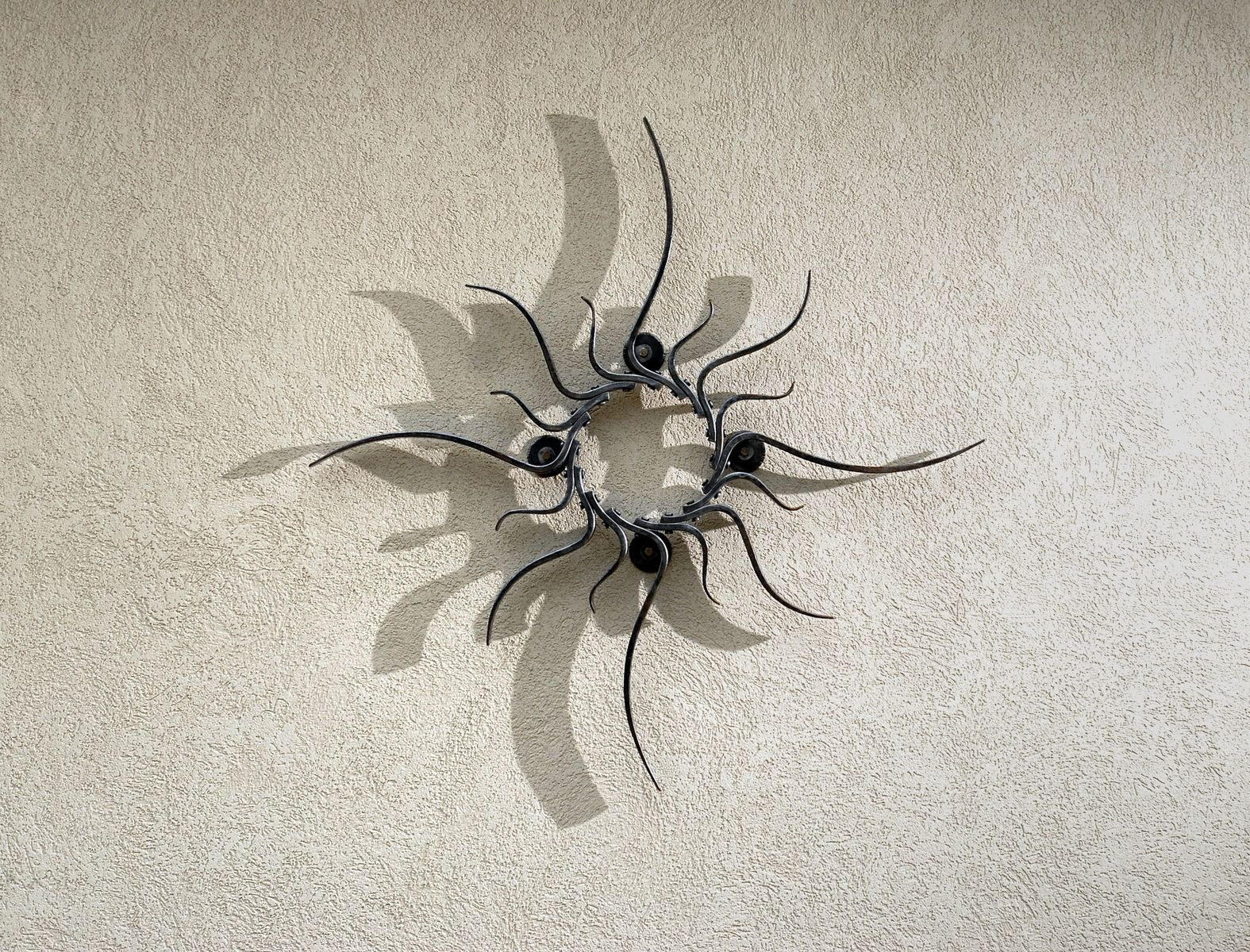 Custom Iron Sun Sculpture