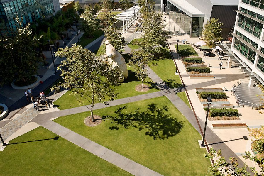 Image result for courtyard open space Campus landscape