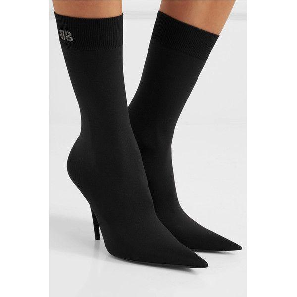 Balenciaga Stretch-jersey sock boots