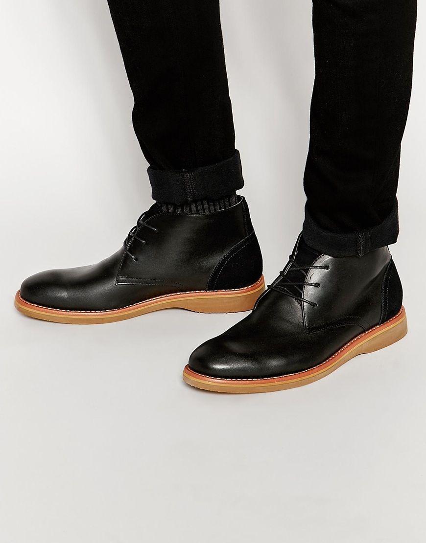 Stiefel von Aldo weiches, glattes Leder Schnürung runde Zehenpartie Kontrastsohle mit geeignetem Pflegemittel behandeln Obermaterial aus 100% Leder