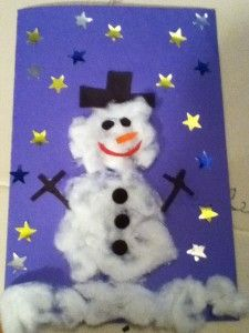 Snowman Christmas Card Ideas For Kids.How To Make A Snowman Christmas Card For Kids Cota