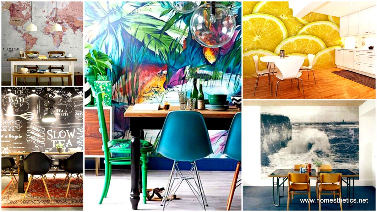 1-22 Cool Dinning Rooms Transformed Beautifully by Wall Murals