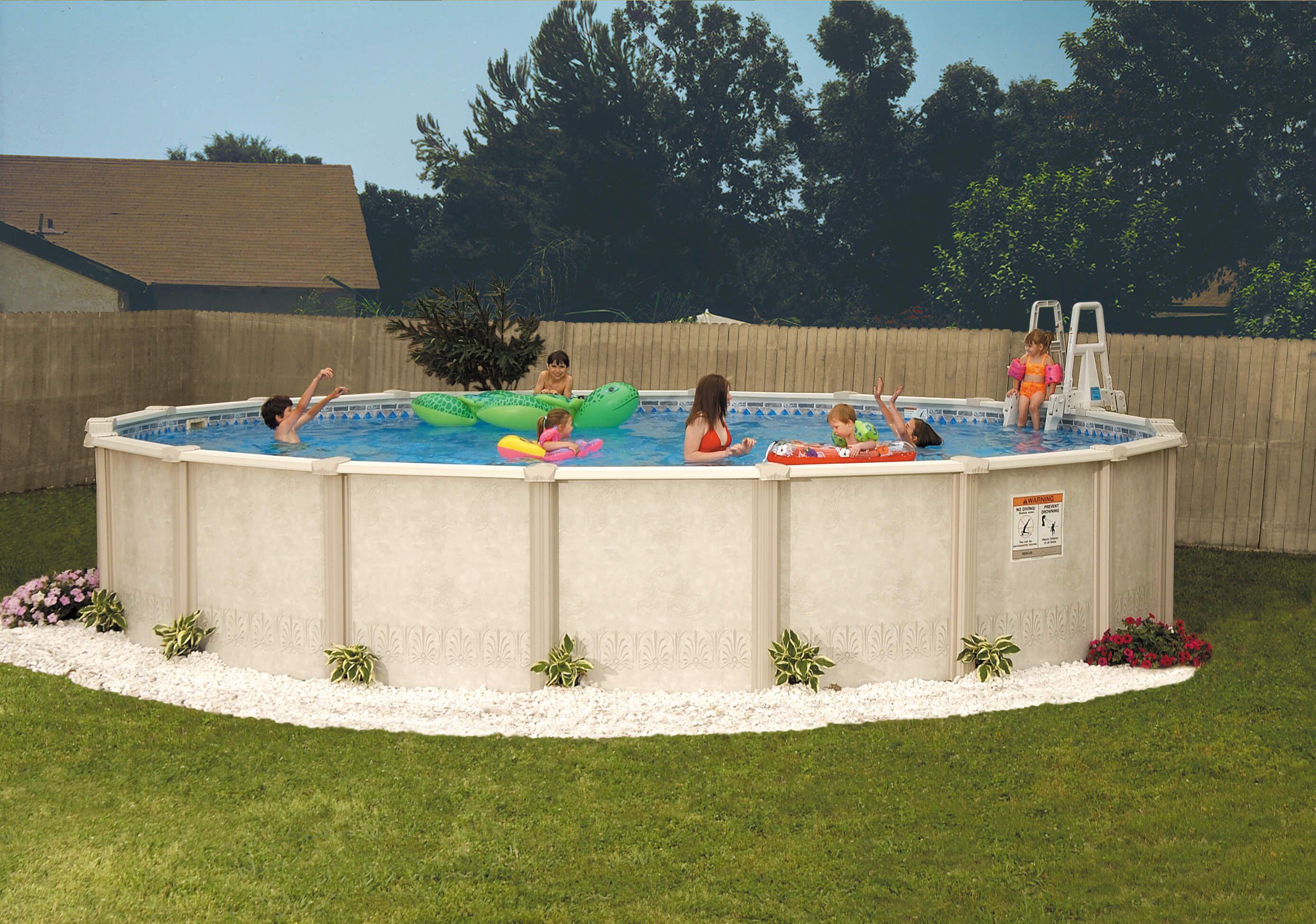 Autumn Breeze resin Doughboy Pool 21\' 52\
