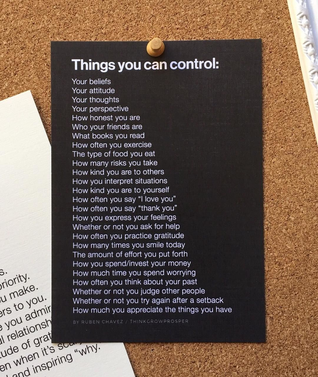 Focus On What You Can Control Quotes: Quite A List Of Things That Are Within Our Control. Focus