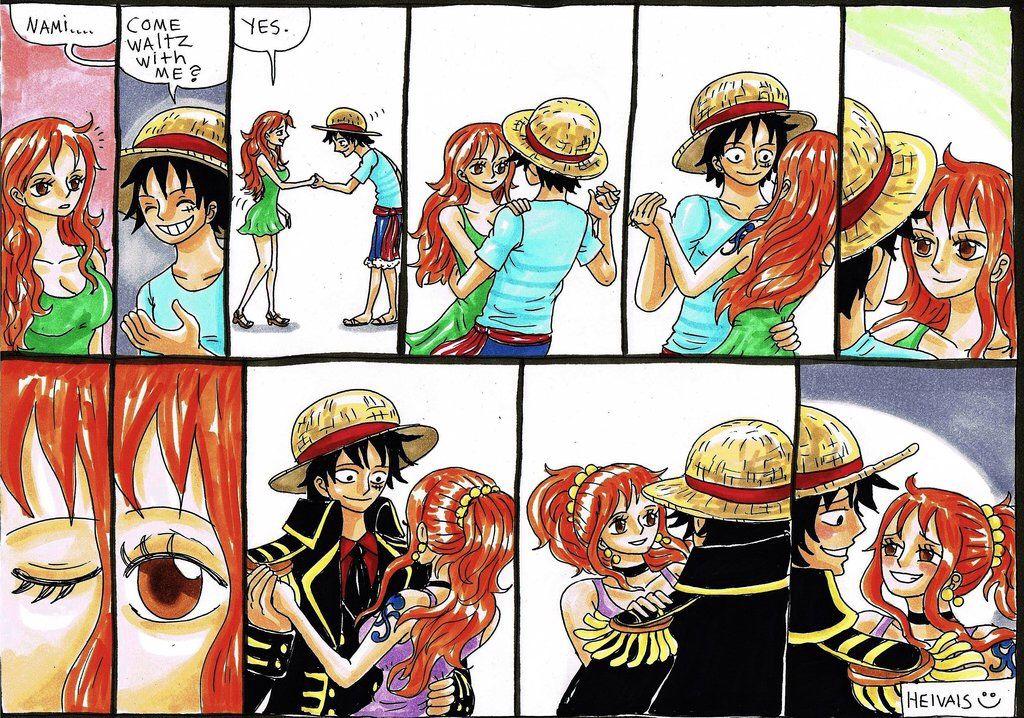 Luffy And Nami In Love One Piece Comic One Piece Fanart