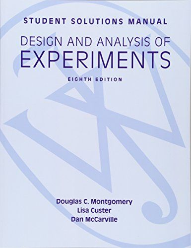 May 28 2020 At 01 13pm Looking For Student Solutions Manual Design And Analysis Of Experiments 8e Student Solutions Manual Manual Design Good Books Analysis