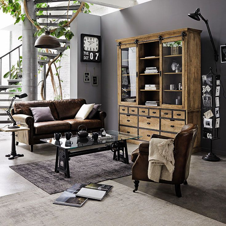 le style la fran aise l honneur chez maisons du monde int rieurs industriels salon. Black Bedroom Furniture Sets. Home Design Ideas