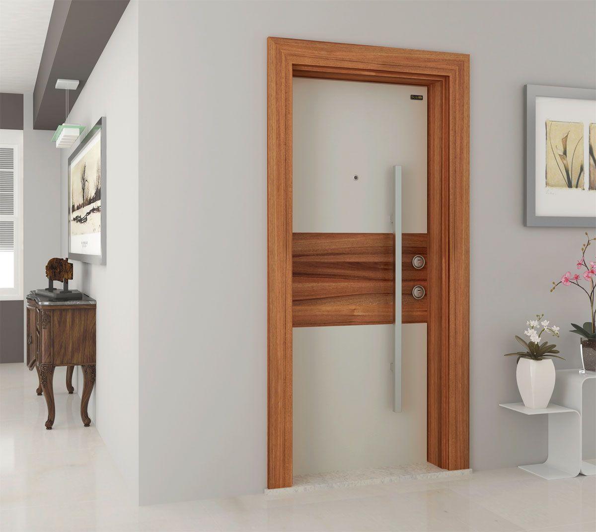 Flat Front Door Design Photo