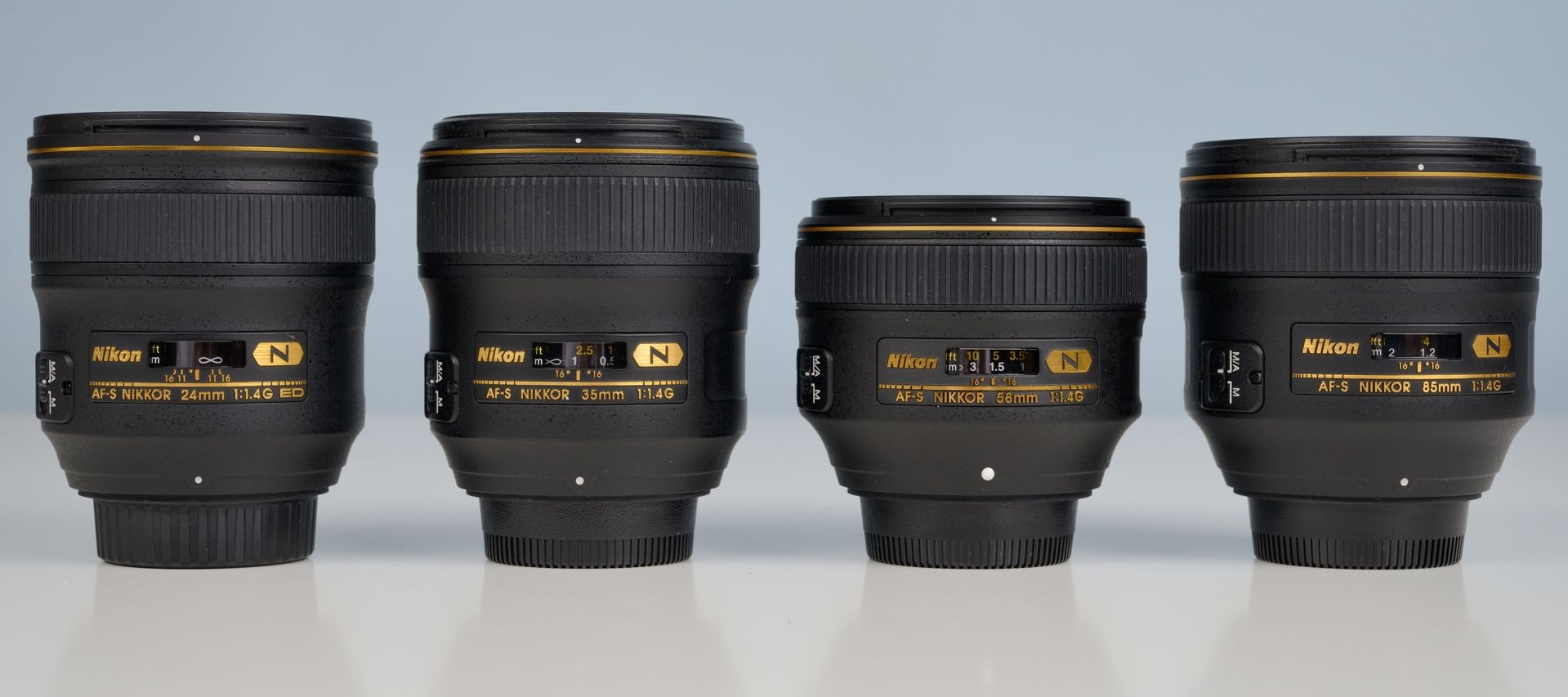Nikon 24 35 58 85 Mm F 1 4g N Lenses Nikon Photography Lenses Camera Lens