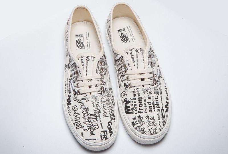 Vans x Comme Des Garcons Character Graffiti Authentic Skate Shoe