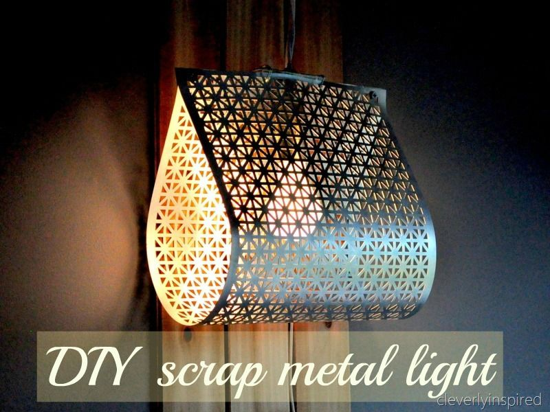 DIY metal light @cleverlyinspired