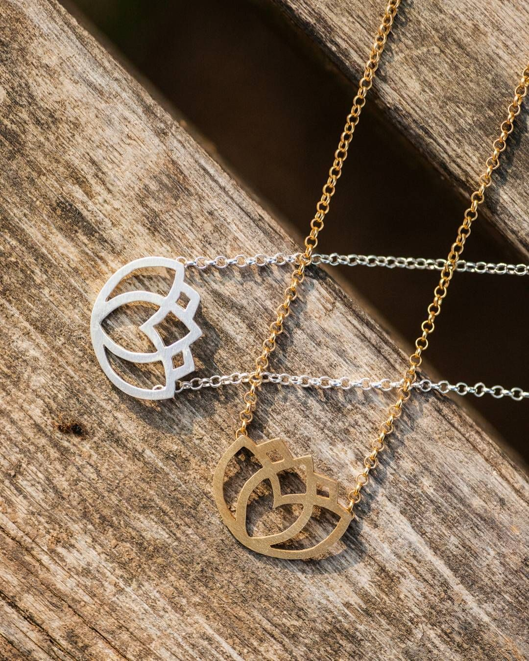 Gold Or Silver Lotus Flower Necklace Make Your Choice Lotus