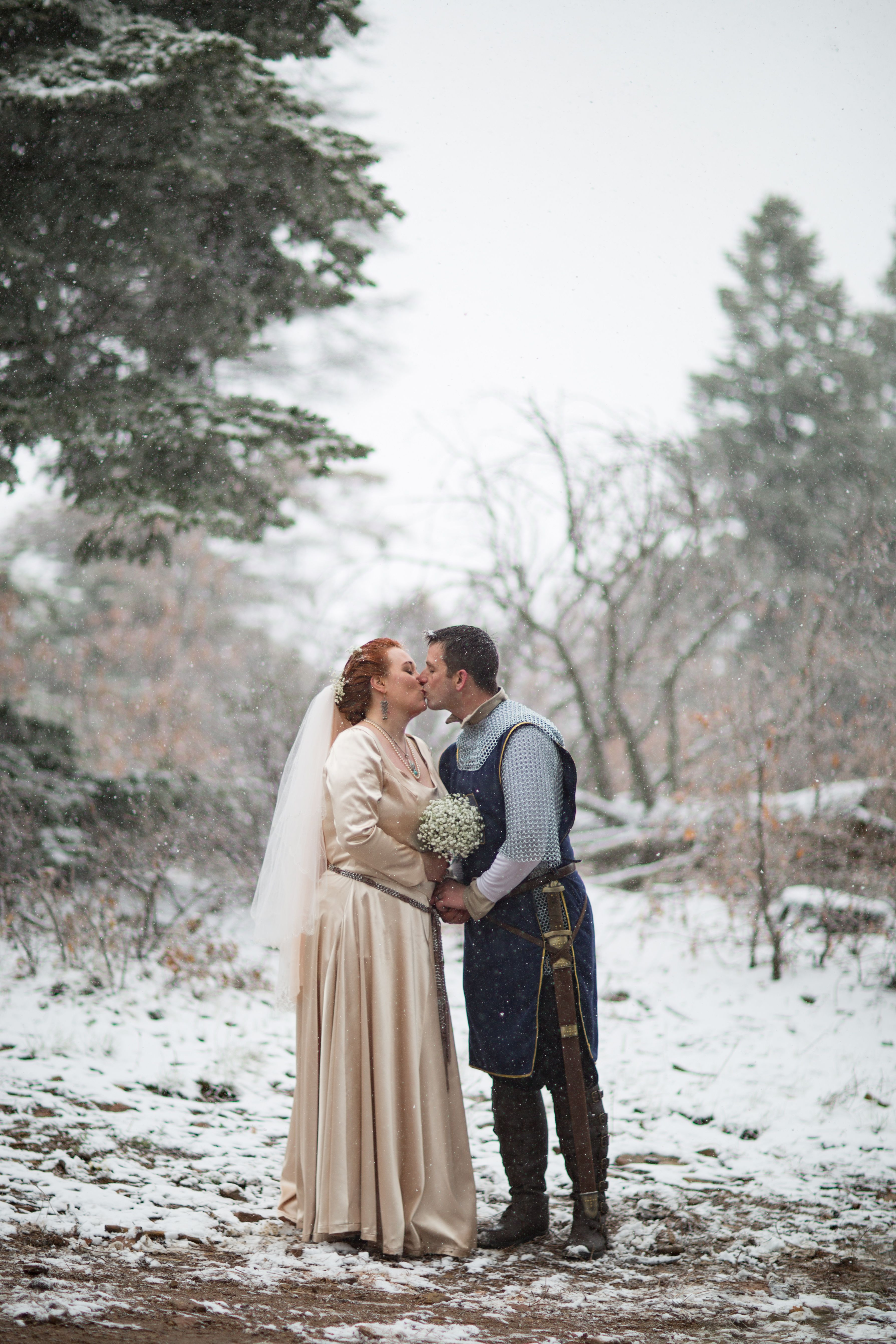 A Princess Bride themed wedding at Sandia Peak. The snowstorm in May ...