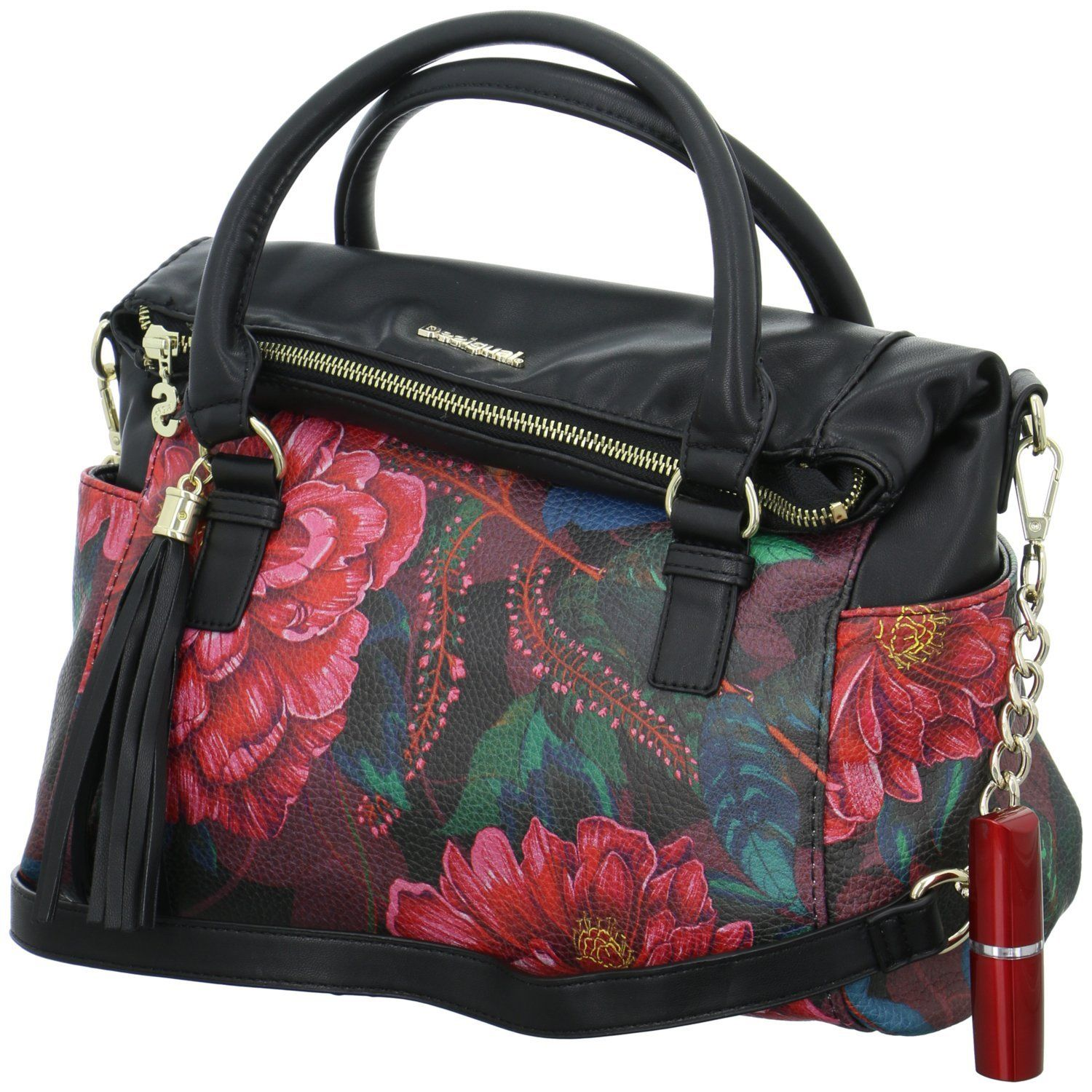 Zapatos Desigual Paris Loverty BOLS Amazon de es mano Bolso cm 33 w6qwBr1vn