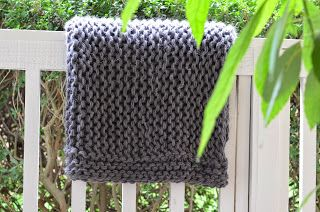 Free Pattern: Chunky Garter Blanket