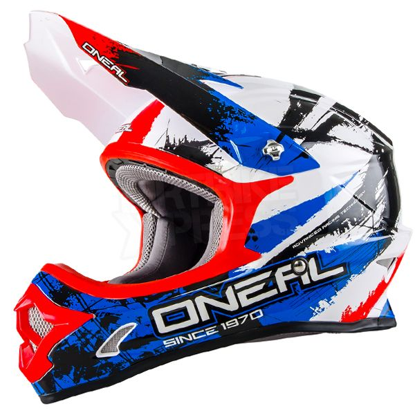 2016 Oneal 3 Series Motocross Helmet Shocker Black Blue Red Motocross Helmets Helmet Kids Helmets