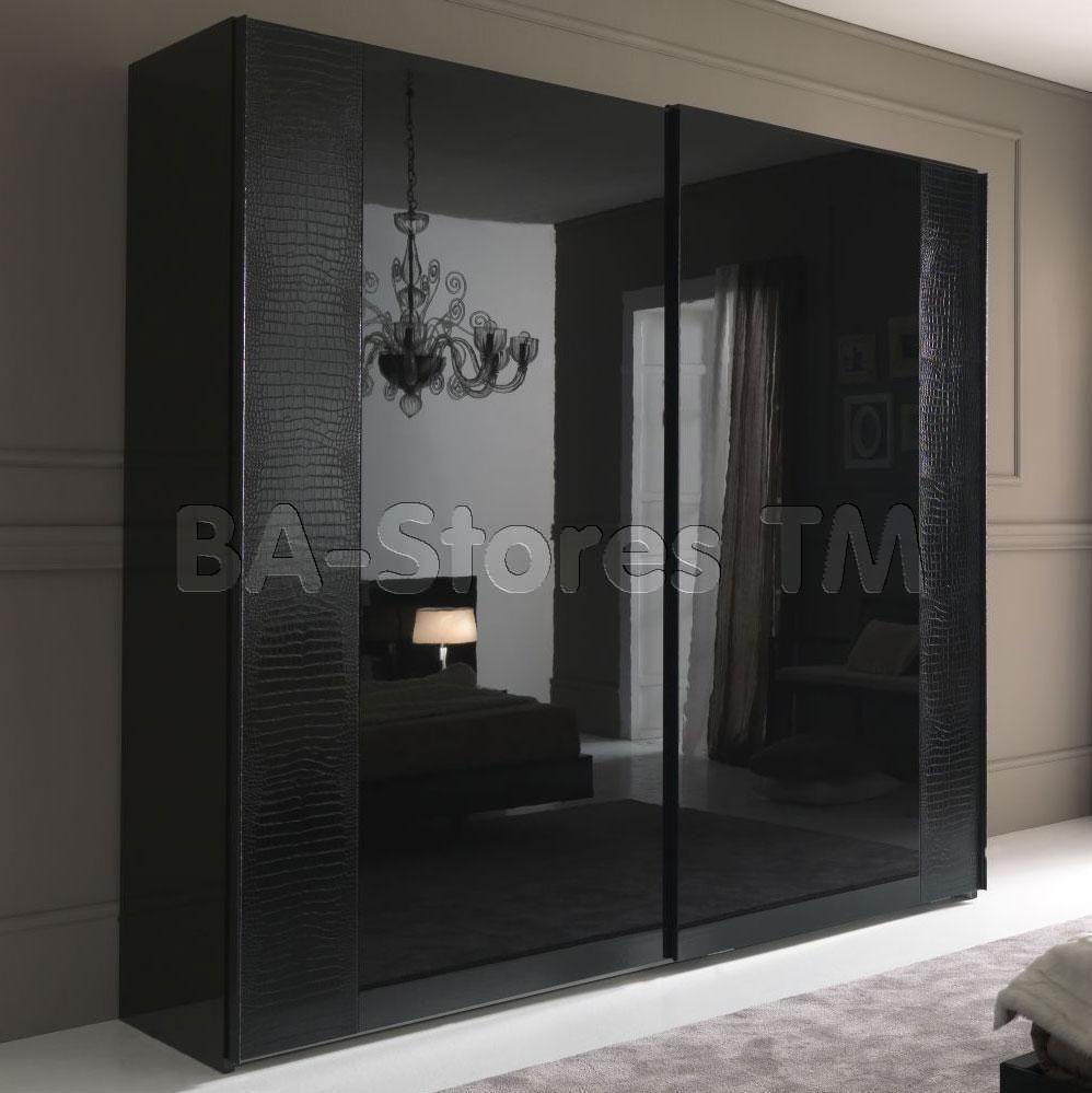 Rossetto usa nightfly sliding door wardrobe in black closets