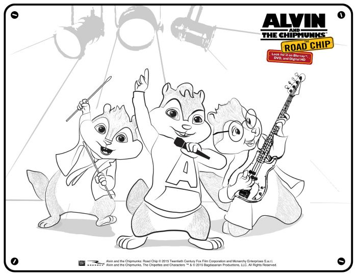 And The Chipmunks Coloring. the coloring pages from and chipmunks ...