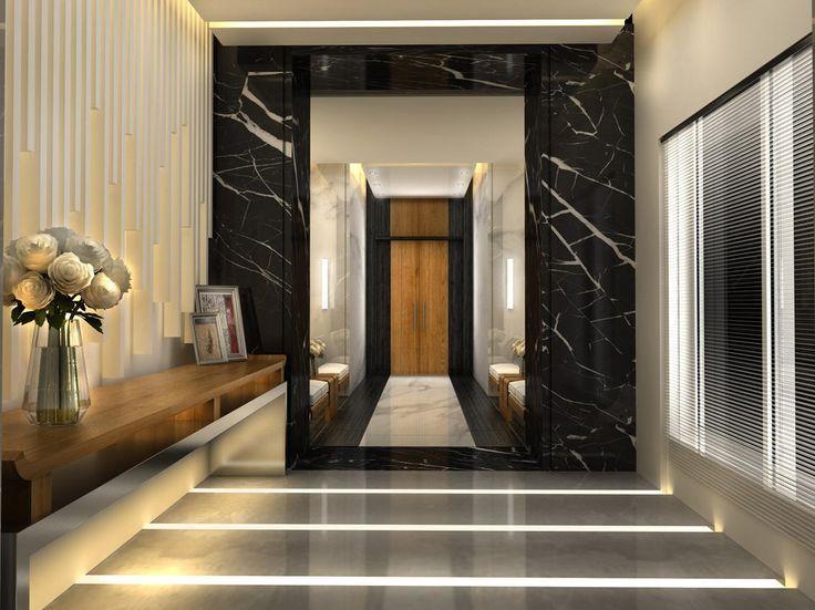 Posh Marble Lobby Design Entrance Design Elevator