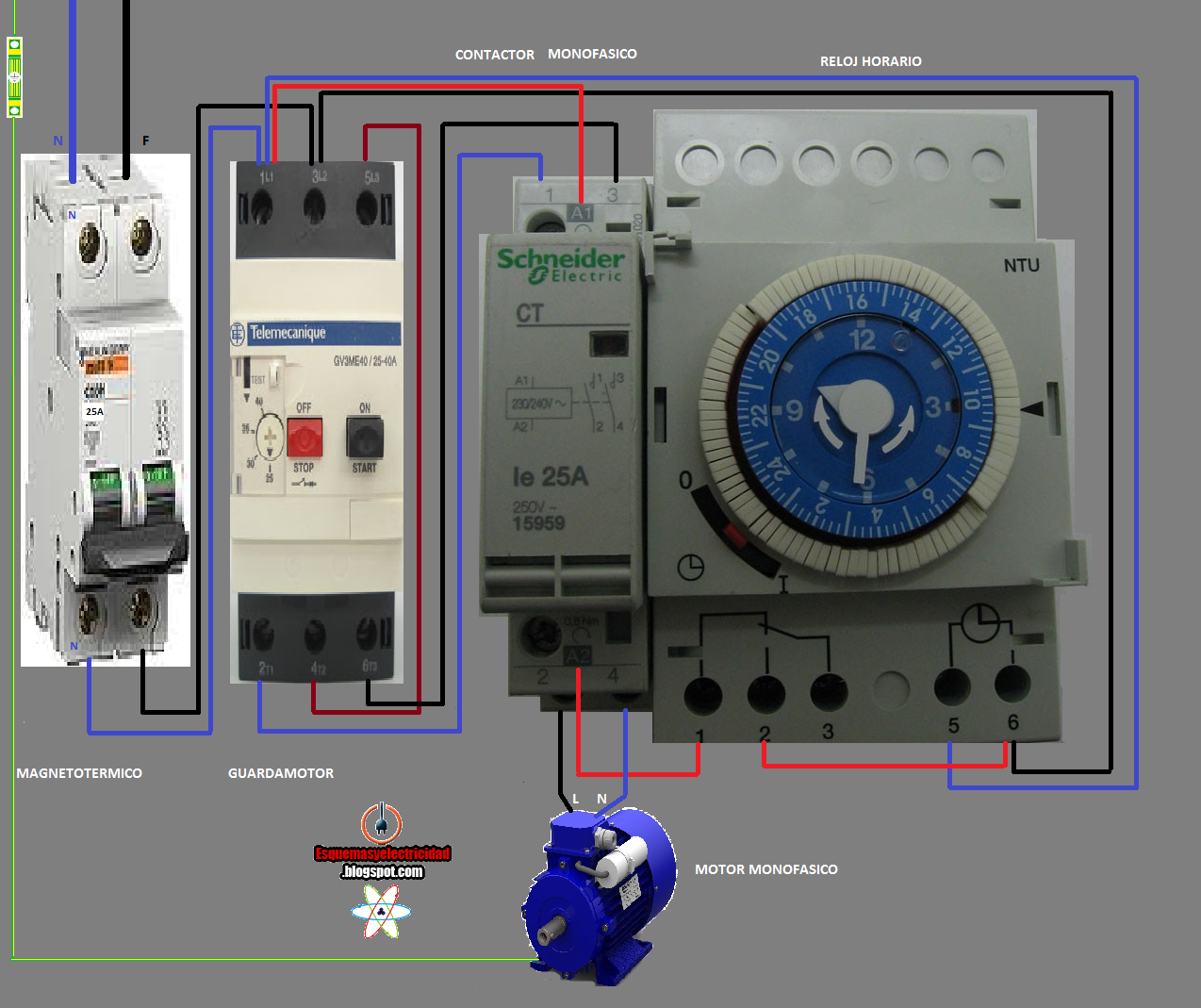Electrical Diagrams Contactor And Watch Hours Eletrical Engineering Projects Installation