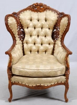 Carved Walnut And Upholstered Parlor Chair 45 Lot 0180 Parlor