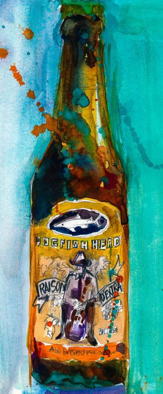 Dogfish Head Brewery Beer Art Print from Original by dfrdesign