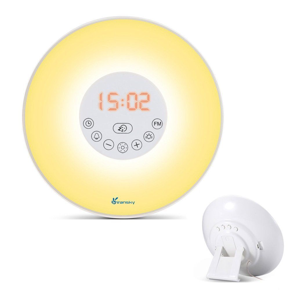 Sunrise Alarm Clock Night Wake Up Light Vansky Bedside Lamp With Nature  Sounds