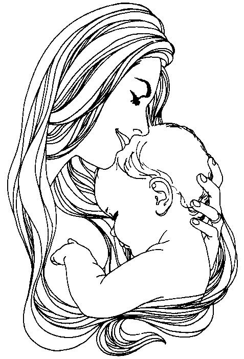 Mother\'s day colouring sheet | Our own piece of heaven. | Pinterest ...