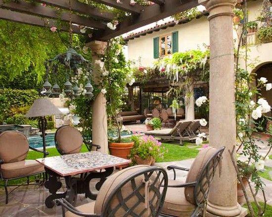 Mediterranean landscape tuscan style design pictures for Tuscan garden design ideas