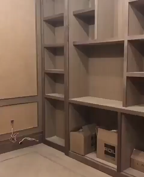 Secret room bookshelf living room design