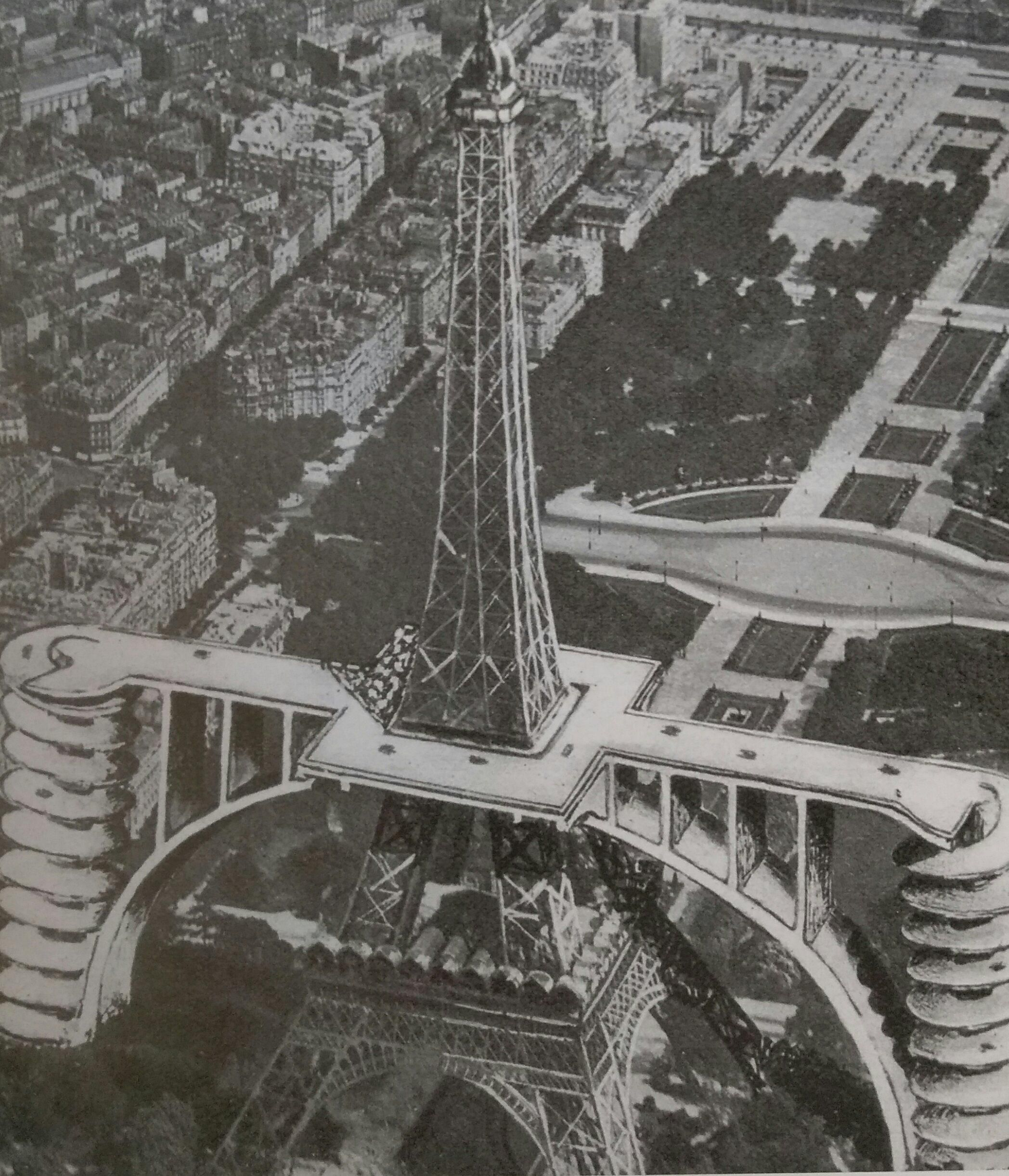 Project for a car ramp to the 2nd floor of the eiffel